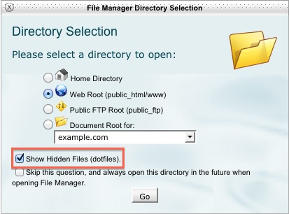 bluehost file_manager_hidden_files