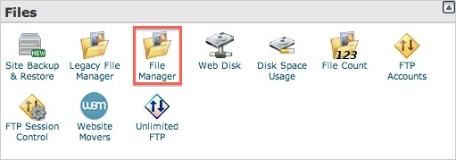 bluehost file manage