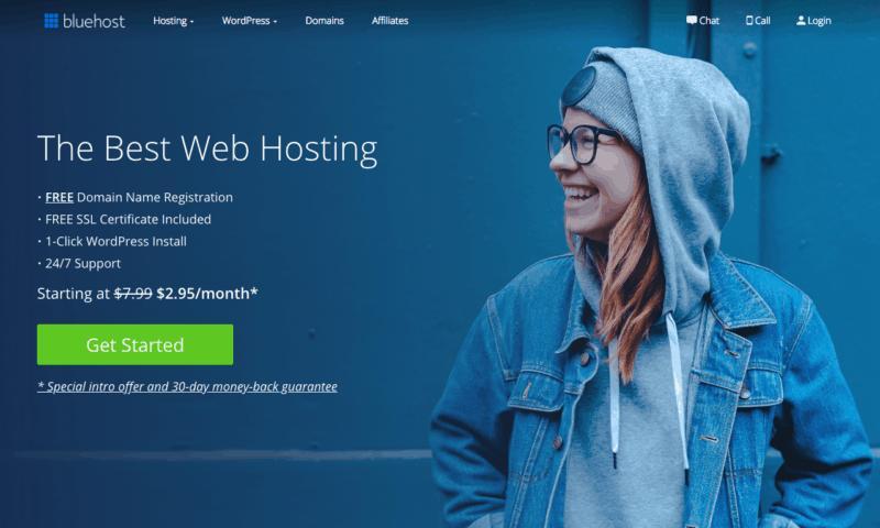 bluehost网站